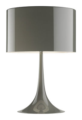 Lampe de table Spun light T1 H 57 cm - Flos taupe en métal