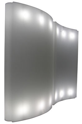 Paravent lumineux Gio Wind / L 136 x H 200 cm - Slide blanc en matière plastique