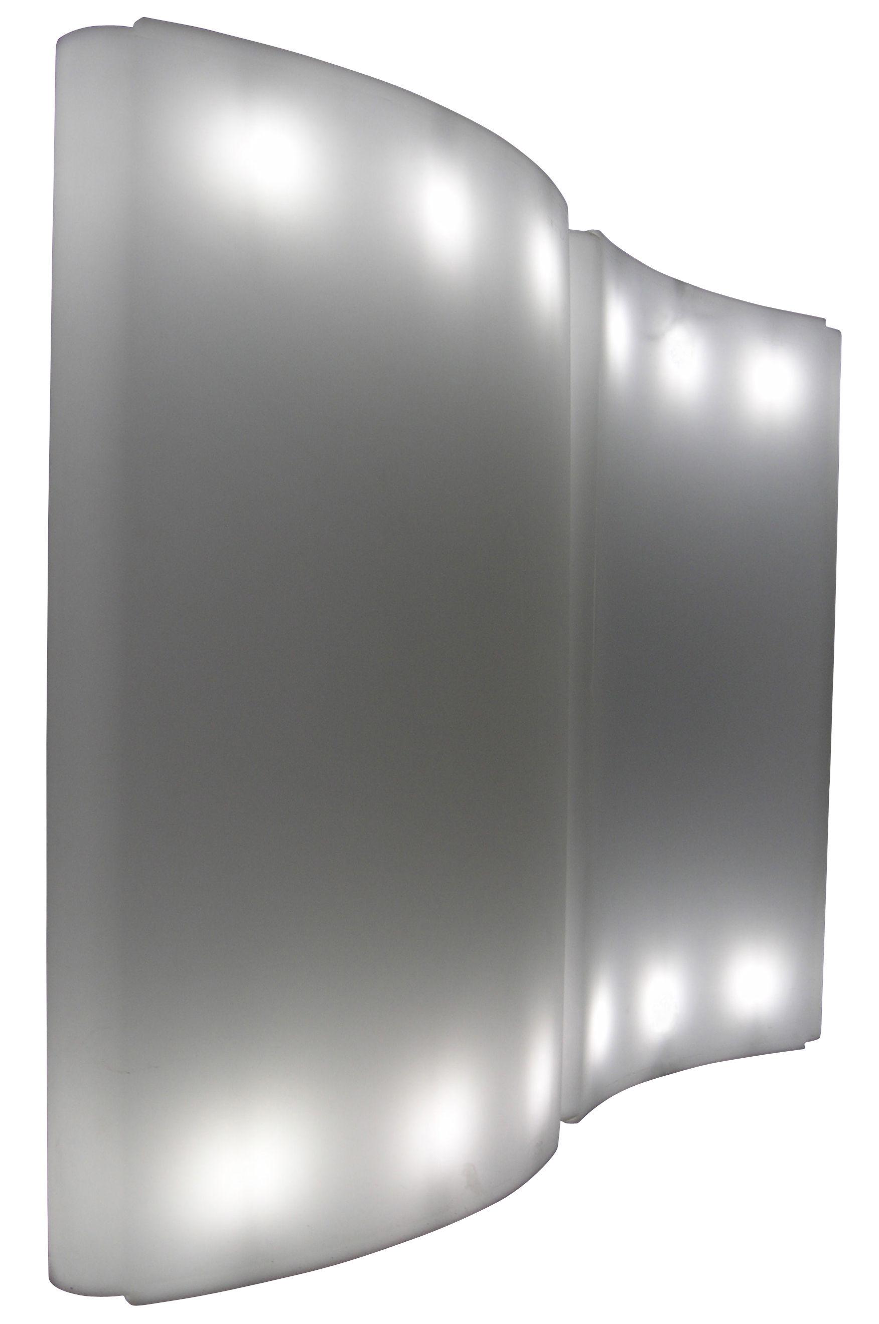 Mobilier - Mobilier lumineux - Paravent lumineux Gio Wind / L 136 x H 200 cm - Slide - Blanc - polyéthène recyclable