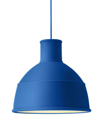 Lighting - Pendant Lighting - Unfold Pendant - Silicone by Muuto - Blue - Silicone