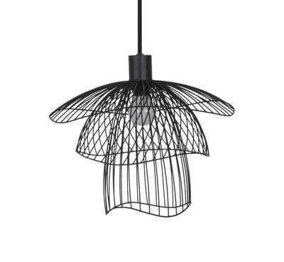 Leuchten - Pendelleuchten - Papillon XS Pendelleuchte / Ø 35 cm - Forestier - Schwarz - thermolackierter Stahl