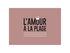 Amour Placemat - / 35 x 49 cm - Vinyl by PÔDEVACHE