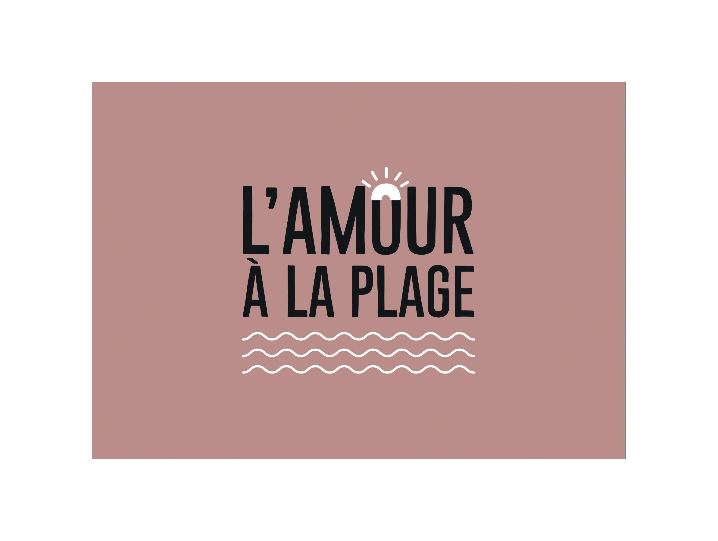 Tableware - Napkins & Tablecloths - Amour Placemat - / 35 x 49 cm - Vinyl by PÔDEVACHE - Turquoise - Vinal
