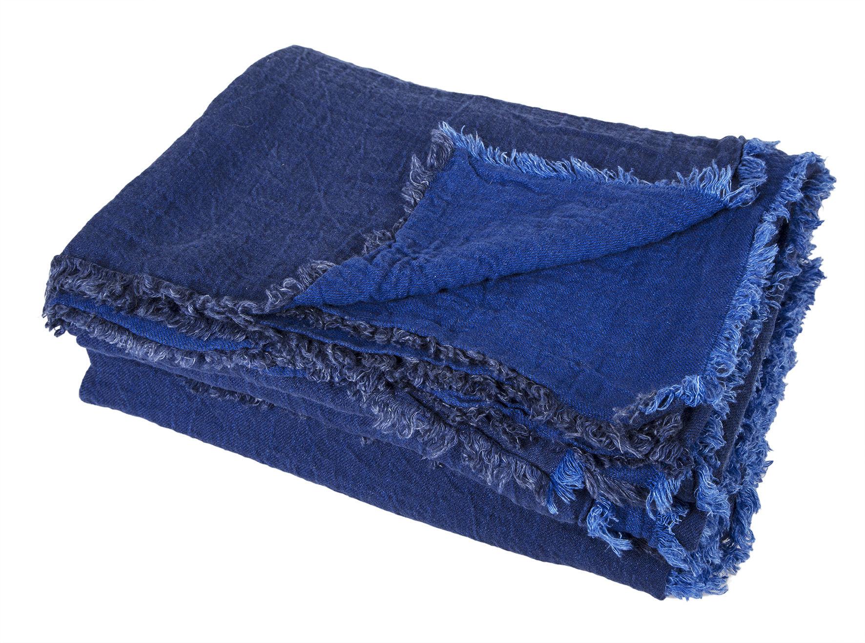 Valentine's day - Valentines Day: Our best ideas for Her - Vice Versa Plaid - 140 x 250 cm by Maison de Vacances - Cobalt blue - Flax