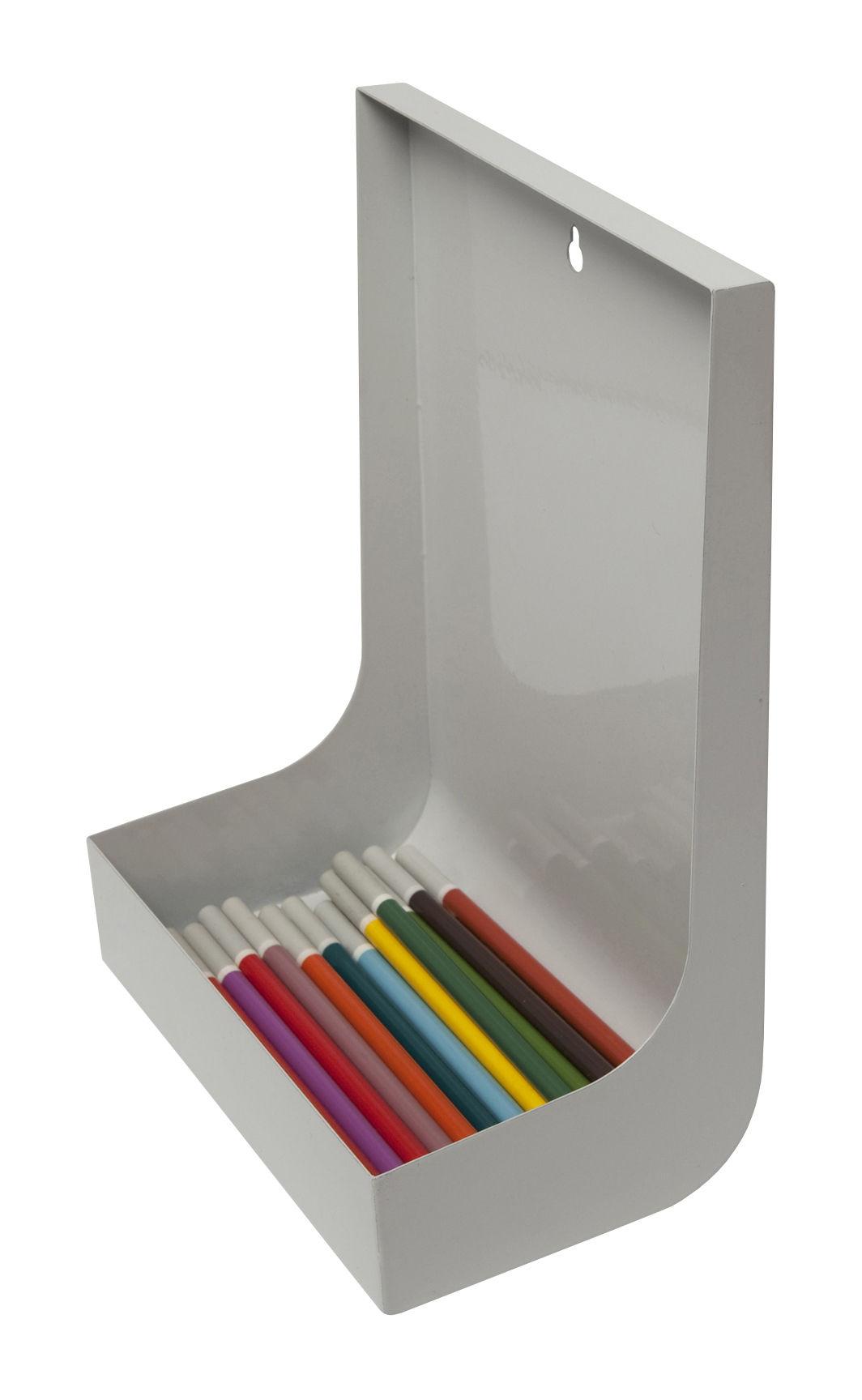 Déco - Tendance humour & décalage - Porte-crayons Etal - L'atelier d'exercices - Gris - Métal peint