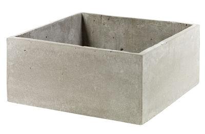 Déco - Pots et plantes - Pot de fleurs Concrete Box Carré / 29 x 29 cm / Pour console Herb - Serax - Carré / Ciment gris - Ciment