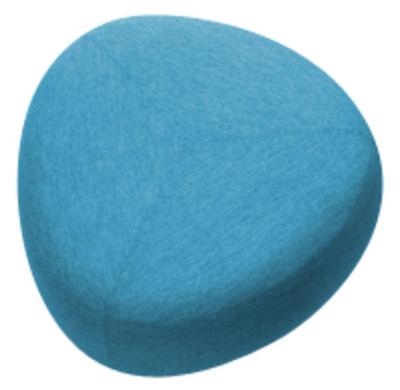 Mobilier - Poufs - Pouf Kipu Medium / 80 x 80 cm - Lapalma - Bleu - Mousse polyuréthane, Tissu Kvadrat