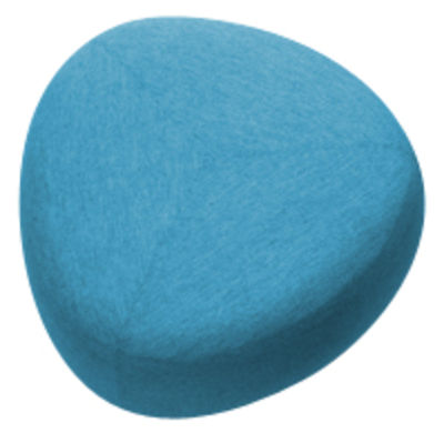 Arredamento - Pouf - Pouf Kipu Medium - / 80 x 80 cm di Lapalma - Blu - Schiuma di poliuretano, Tessuto Kvadrat