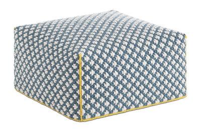 Furniture - Poufs & Floor Cushions - Silaï Pouf - 68 x 68 x H 35 cm by Gan - Blue - Wool