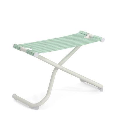 Mobilier - Tabourets bas - Pouf Snooze / Repose-pieds - Pliable - Emu - Citronnelle / Structure blanche - Acier verni, Tissu technique