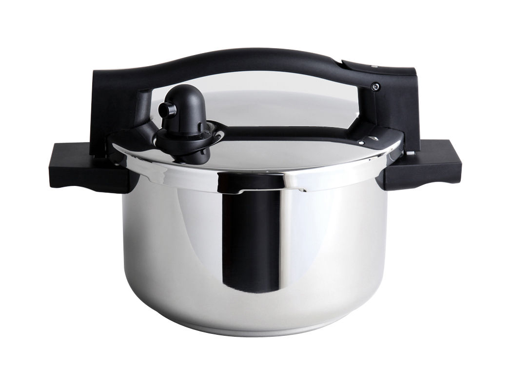 Kitchenware - Pots & Pans - Subito Pressure cooker - 5 L by Serafino Zani - Ø 22 cm - Shiny stainless steel - Polished stainless steel