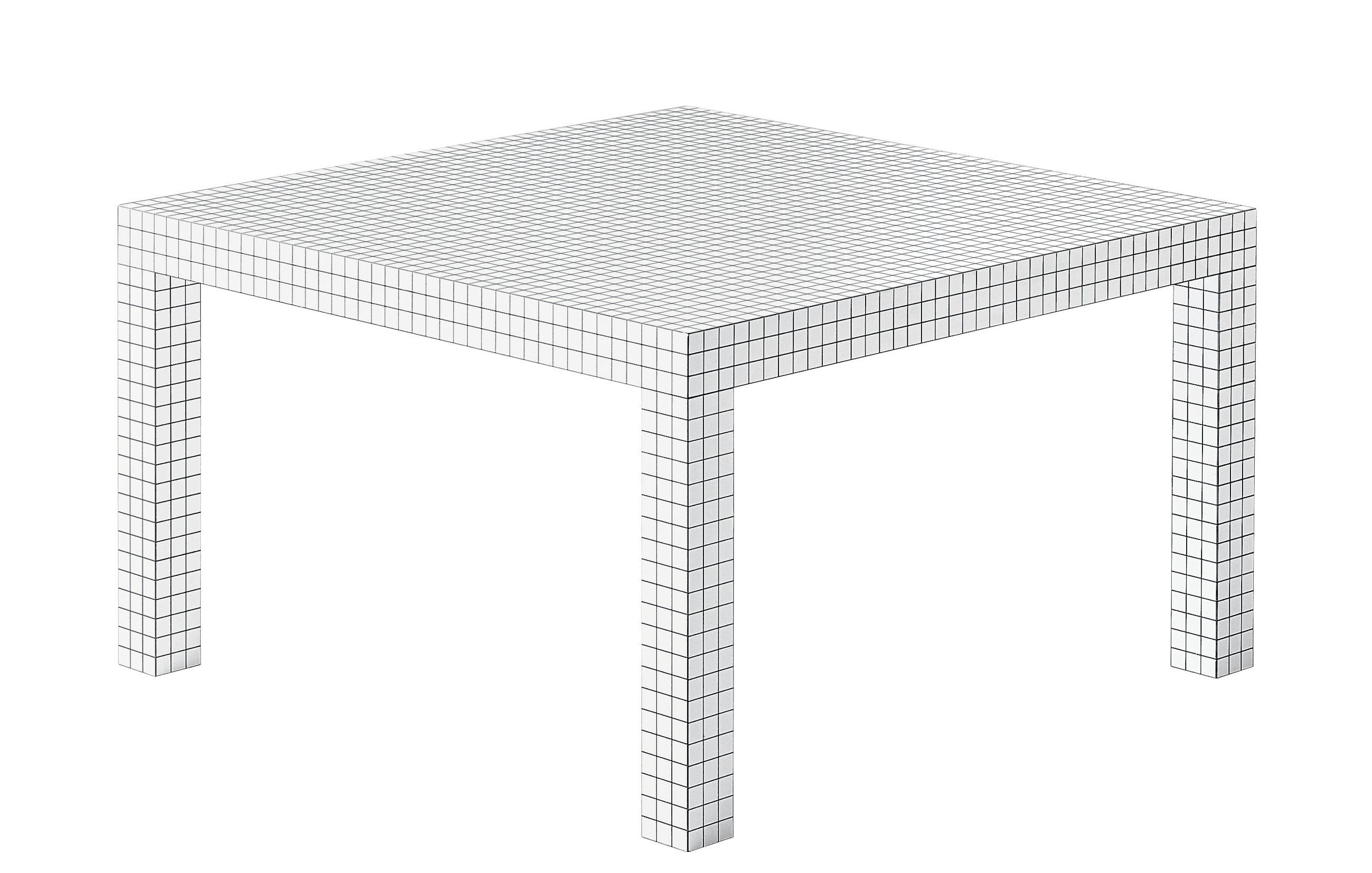 Trends - Dinner Time - Quaderna Square table - 126 x 126 cm by Zanotta - White / Black - Alveolar board, Mdf plastic