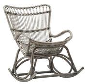 Rocking chair Monet Sika Design taupe en fibre végétale