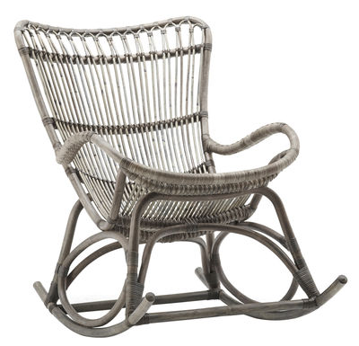 Furniture - Armchairs - Monet Rocking chair by Sika Design - Taupe - Rattan