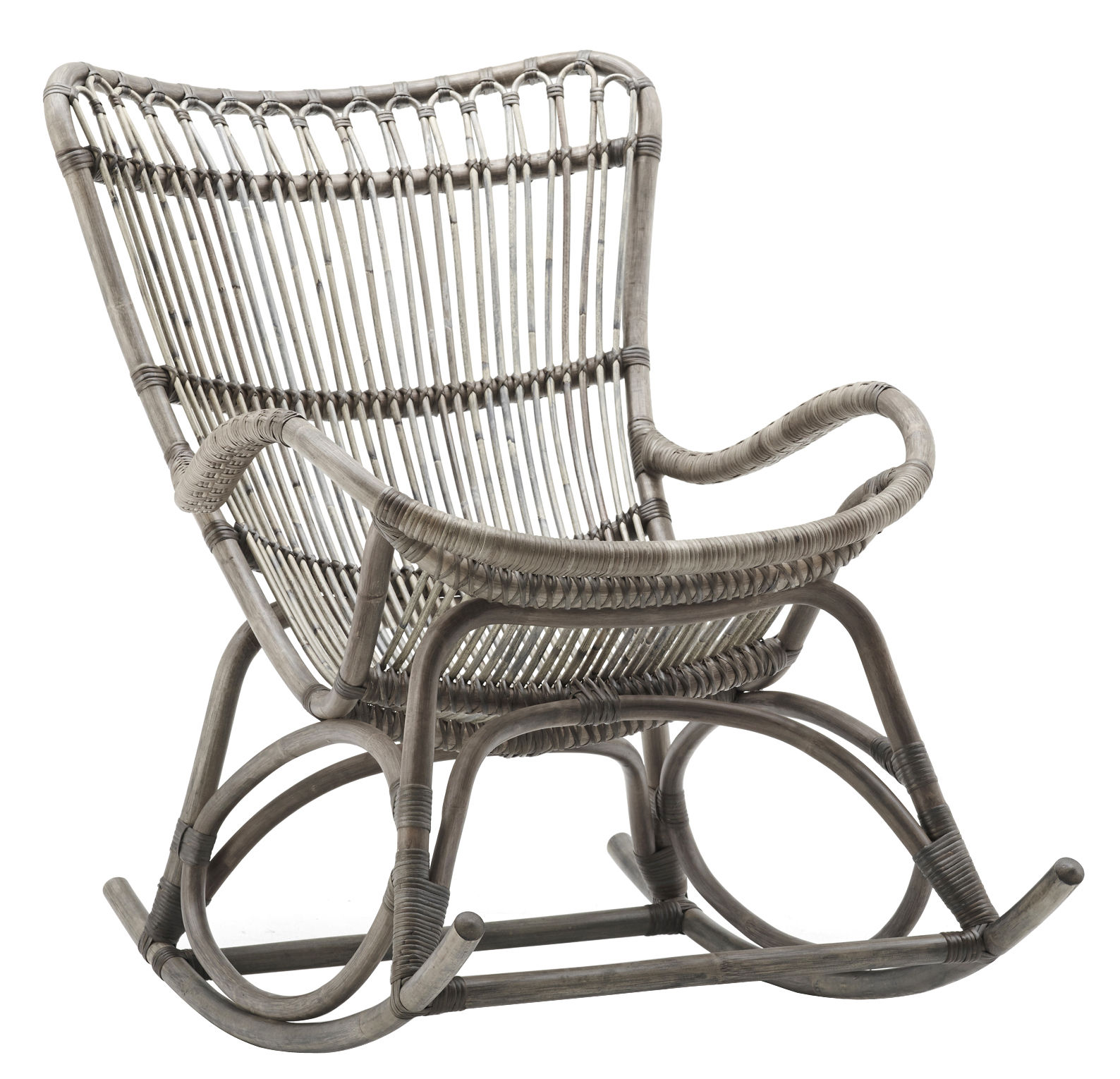 Mobilier - Fauteuils - Rocking chair Monet - Sika Design - Taupe - Rotin