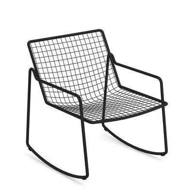 Rocking chair Rio R50 / Métal - Emu noir en métal