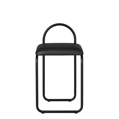 Arredamento - Sedie  - Sedia imbottita Angui - / Pelle di AYTM - Pelle nera / Struttura nera - Espanso, Ferro laccato, Pelle