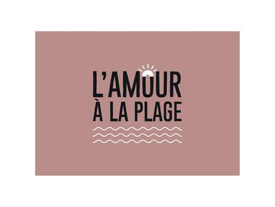 Arts de la table - Nappes, serviettes et sets - Set de table Amour / 35 x 49 cm- Vinyle - PÔDEVACHE - Rose - Vinyle