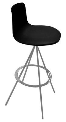 Image of Sgabello alto girevole Lottus - 4 piedi - Bicolore di Enea - Nero/Metallo - Metallo/Materiale plastico