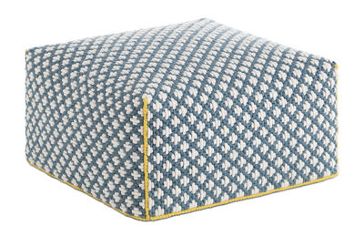 Silaï Sitzkissen / 68 x 68 x H 35 cm - Gan - Weiß,Blau,Gelb