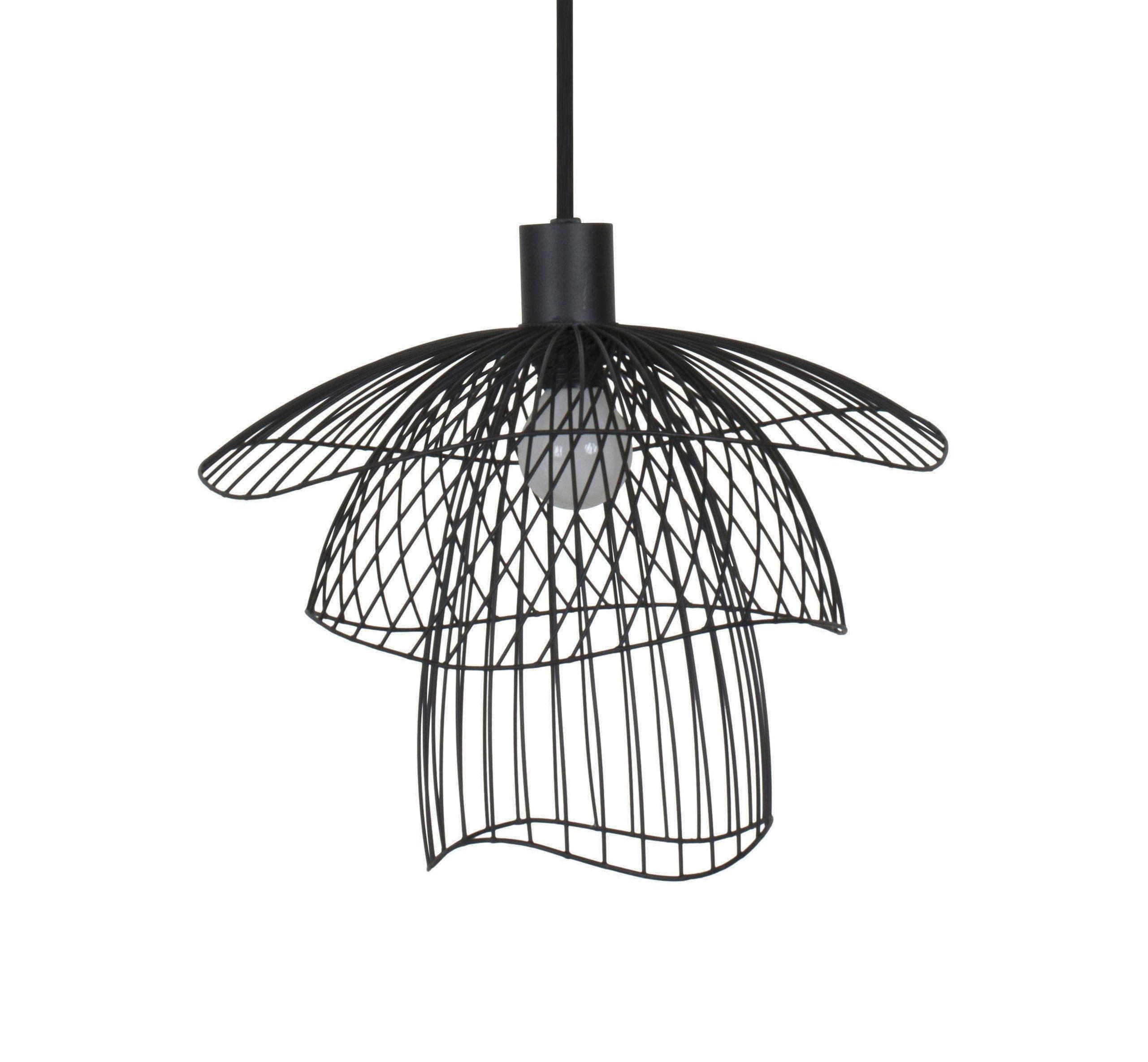 Illuminazione - Lampadari - Sospensione Papillon XS - / Ø 35 cm di Forestier - Nero - Acciaio termolaccato