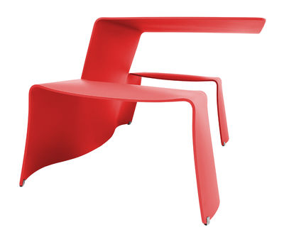 Outdoor - Garden Tables - Picnik Table & seats set - With benches by Extremis - Red - Painted aluminium
