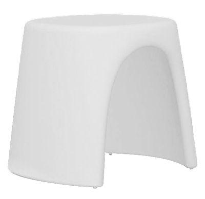 Tabouret empilable Amélie / Plastique - Slide blanc en matière plastique