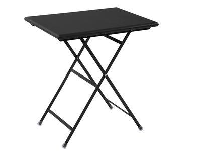 Outdoor - Tavoli  - Tavolo pieghevole Arc en Ciel - pieghevole - 70 x 50 cm di Emu - Nero - Acciaio verniciato