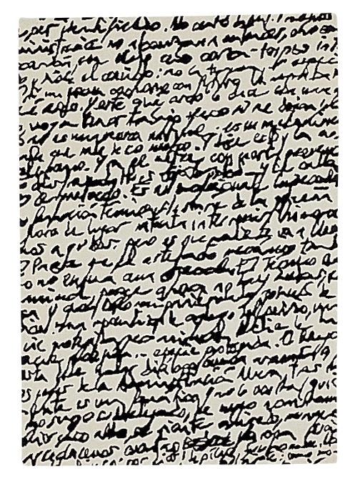 Möbel - Teppiche - Black on white - Manuscrit Teppich - Nanimarquina - 80 x 240 cm - schwarz und weiß - Wolle