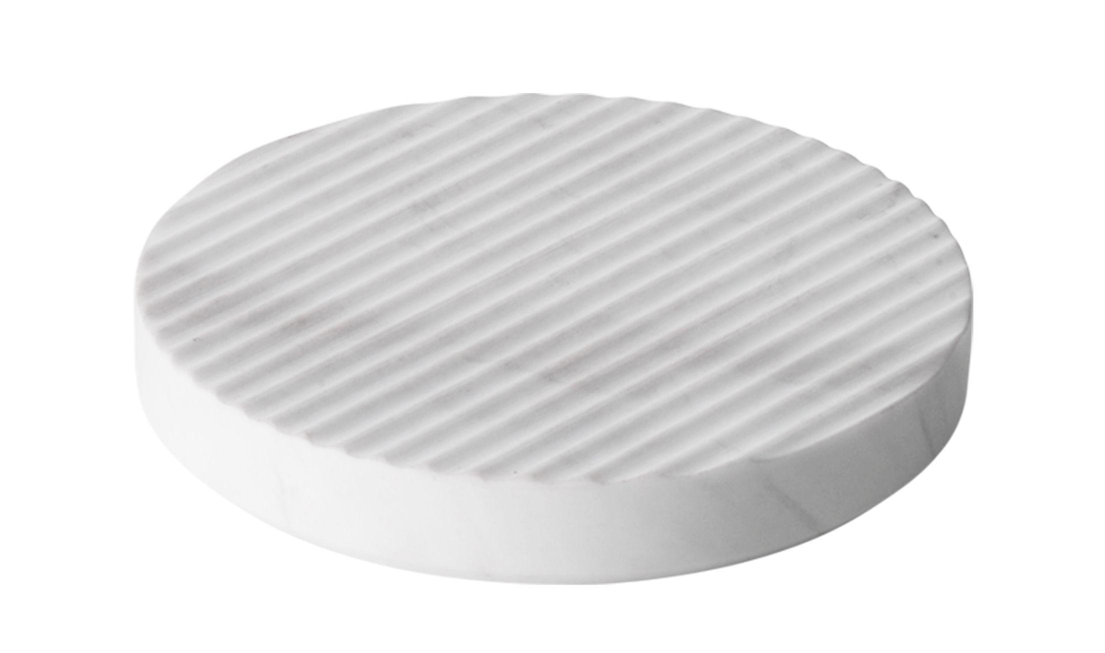 Tischkultur - Topfuntersetzer - Groove Topfuntersetzer / klein Ø 16 cm  - Marmor - Muuto - Weiß - Marmor