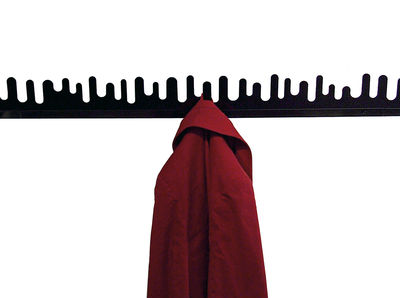 Furniture - Coat Racks & Pegs - Wave Coat stand - L 45 cm - Set of 2 by Design House Stockholm - Black - Lacquered metal