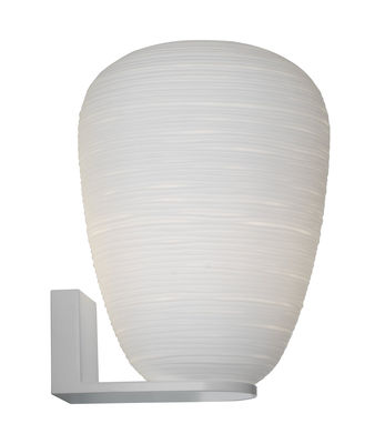 Lighting - Wall Lights - Rituals 1 Wall light - Ø 24 x H 34 cm by Foscarini - H 34 cm / White - Lacquered metal, Mouth blown glass