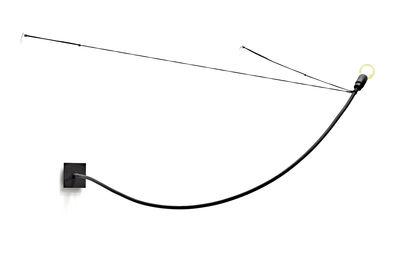 Cravache Wandleuchte einfach / Wandleuchte - H 131 cm - Serax - Schwarz