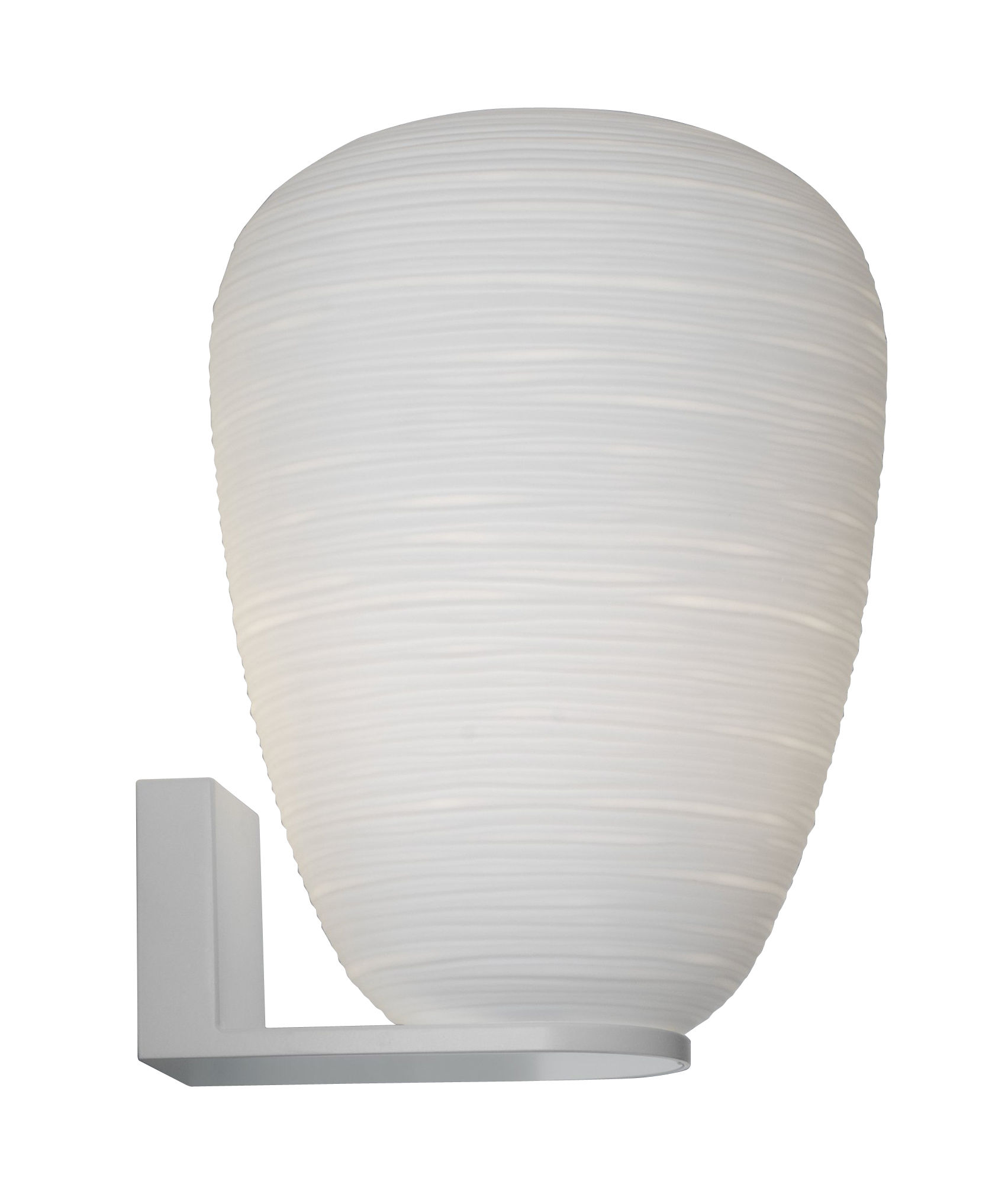 Leuchten - Wandleuchten - Rituals 1 Wandleuchte / Ø 24 cm x H 34 cm - Foscarini - H 34 cm / weiß - lackiertes Metall, mundgeblasenes Glas