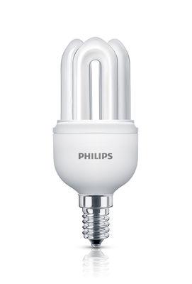 Luminaire - Ampoules et accessoires - Ampoule fluocompacte E14 Genie / 11W (50W) - 600 lumen - Philips - 11W (50W) - Métal, Verre