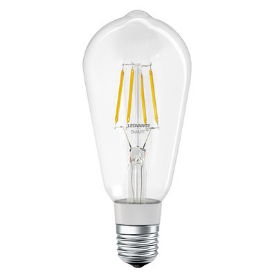 Ampoule LED E27 connectée / Smart+ - Filaments Edison 5,5W=50W - Ledvance transparent en verre
