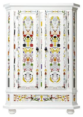 Armoire Altdeutsche / Peint à la main - Moooi blanc,multicolore en bois