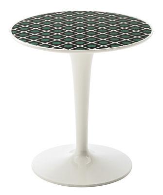 Möbel - Couchtische - Tip Top La Double J Beistelltisch / Tischplatte aus Acryl - Kartell - Olive / Fuß weiß - PMMA