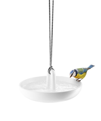 Outdoor - Garden ornaments & Accessories - Birdbath - / Suspended by Eva Solo - White - Ceramic, Nylon