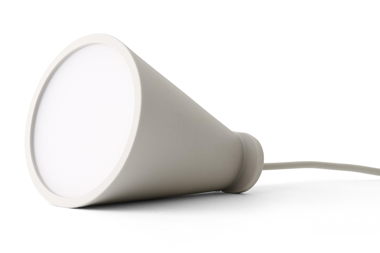 Luminaire - Lampes de table - Bladeuse Bollard / à poser ou suspendre - H 13 cm - Menu - Cendre - Plastique, Silicone