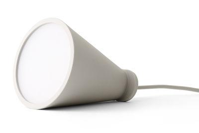 Leuchten - Tischleuchten - Bollard Bladeuse / Handlampe zum Hinlegen oder Aufhängen - H 13 cm - Menu - Hellgrau - Plastik, Silikon