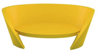 Canapé droit Rap / L 170 cm - Slide jaune en matière plastique