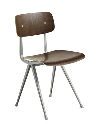 Furniture - Chairs - Result Chair - / 1958 reissue by Hay - Smoked oak / Beige legs - Lacquered steel, Smoked oak plywood