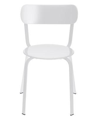 Mobilier - Chaises, fauteuils de salle à manger - Chaise empilable Stil / Métal - Lapalma - Métal laqué blanc - Métal laqué