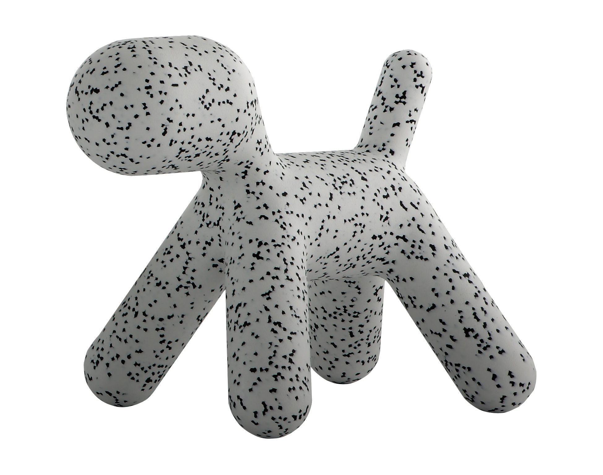 Furniture - Kids Furniture - Puppy Small Children's chair - / Small - L 42 cm by Magis Collection Me Too - White / Black mottled - roto-moulded polyhene