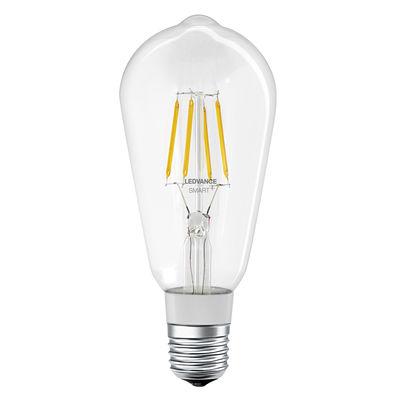 Lighting - Light Bulb & Accessories - Connected LED E27 bulb - / Smart+ - 5.5 W = 50 W Edison Filaments by Ledvance - Transparent - Glass