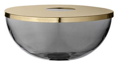 Déco - Vases - Coupe Tota / Vase - Laiton & verre - AYTM - Noir transparent / Laiton - Laiton, Verre