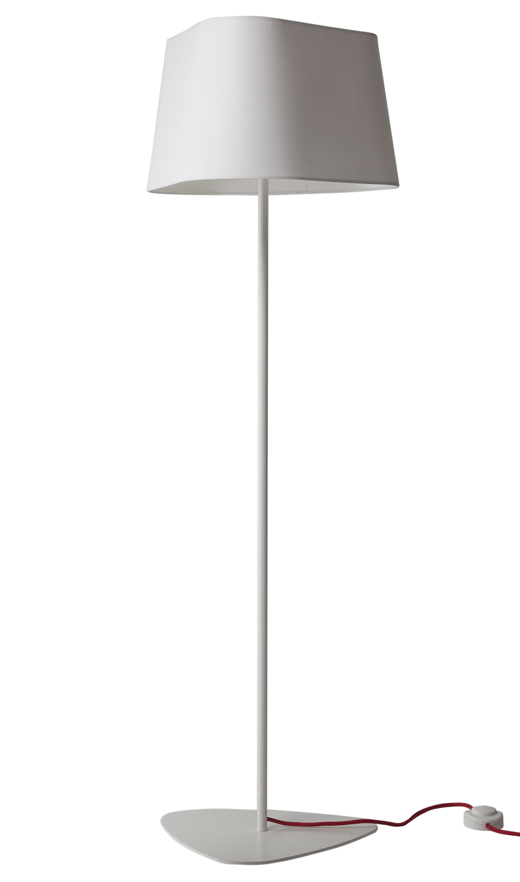 Lighting - Floor lamps - Grand Nuage XL Floor lamp by Designheure - H 162 cm - White fabric - Cotton canvas, Lacquered steel