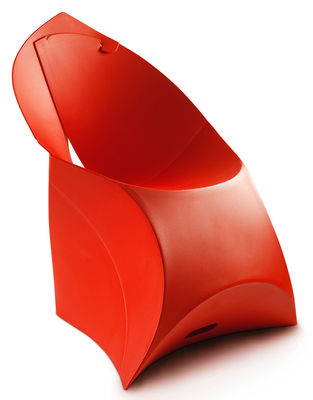 Furniture - Chairs - Flux Chair Folding armchair - Polypropylene by Flux - Red - Polypropylene