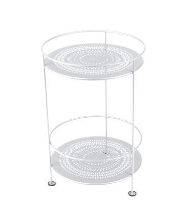 Mobilier - Tables basses - Guéridon Guinguette / Ø 40 x H 61 cm - Fermob - Blanc coton - Acier laqué